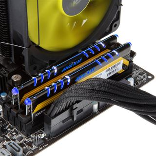 8GB Avexir Core Series MPOWER Edition blaue LED DDR3-2400 DIMM CL10 Dual Kit