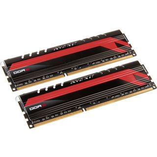8GB Avexir Core Series MPOWER Edition rote LED DDR3-1600 DIMM CL9 Dual Kit