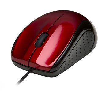 V7 Maus USB schwarz/rot (kabelgebunden)