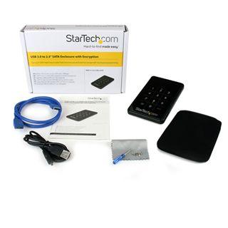 """Startech S2510BU3PW 2.5"""" (6,35cm) USB 3.0 schwarz"""