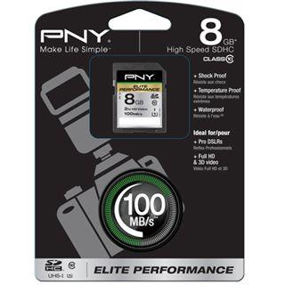 8 GB PNY Elite Performance SDHC Class 10 Retail