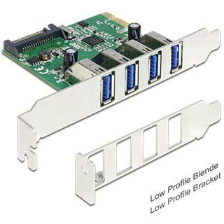 Delock 89360 4 Port PCIe 2.0 x1 retail
