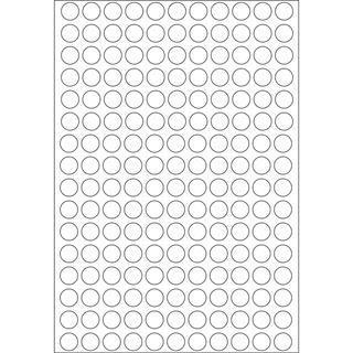 Herma 2210 rund Vielzwecketiketten 0.8x0.8 cm (32 Blatt (5632