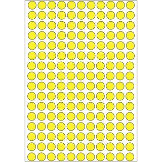 Herma 2211 gelb rund Vielzwecketiketten 0.8x0.8 cm (32 Blatt (5632