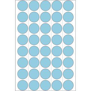 Herma 2253 blau rund Vielzwecketiketten 1.9x1.9 cm (32 Blatt (1280 Etiketten))