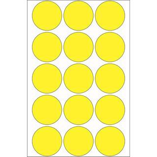 Herma 2271 gelb rund Vielzwecketiketten 3.2x3.2 cm (32 Blatt (480