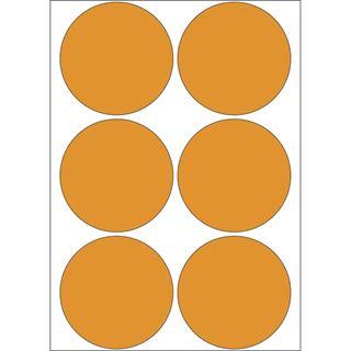 Herma 2284 leuchtorange Vielzwecketiketten 5x5 cm (24 Blatt (144