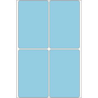 Herma 2493 blau Vielzwecketiketten 5.2x8.2 cm (32 Blatt (128