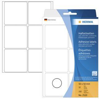 Herma 2520 Vielzwecketiketten 5x5 cm (32 Blatt (192 Etiketten))