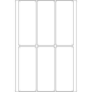 Herma 2540 Vielzwecketiketten 3.2x8.2 cm (32 Blatt (192 Etiketten))