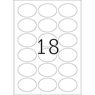 Herma 4106 gold oval folie Universal-Etiketten 5.84x4.23 cm (25 Blatt (450 Etiketten))
