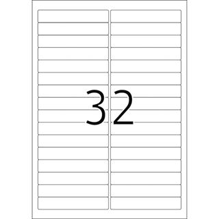 Herma 4209 ablösbar Universal-Etiketten 9.6x1.69 cm (25 Blatt