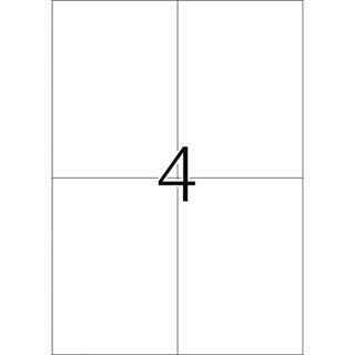 Herma 4229 Korrektur-Etiketten 10.5x14.8 cm (25 Blatt (100 Etiketten))
