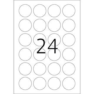 Herma 4234 rund stark haftend Sicherheitsetiketten 4x4 cm (25 Blatt (600 Etiketten))