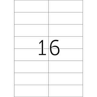 Herma 4257 rot Universal-Etiketten 10.5x3.7 cm (100 Blatt (1600