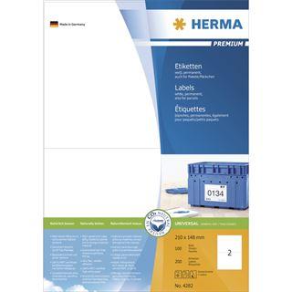 Herma 4282 Premium Universal-Etiketten 21x14.8 cm (100 Blatt (200