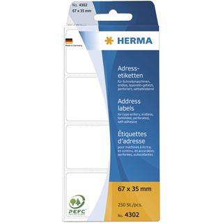 Herma 4302 endlos Adressetiketten für Schreibmaschinen 6.7x3.5
