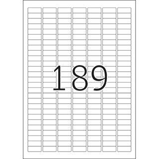 Herma 4333 Premium Universal-Etiketten 2.54x1 cm (25 Blatt (4725