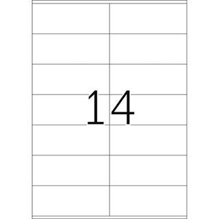 Herma 4416 Premium Universal-Etiketten 10.5x4.2 cm (500 Blatt (7000