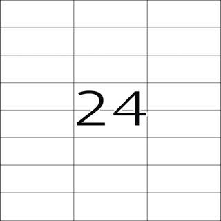 Herma 4464 Premium Universal-Etiketten 7.0x3.7 cm (100 Blatt (2400 Etiketten))