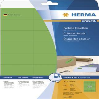 Herma 4469 grün Universal-Etiketten 7.0x3.7 cm (20 Blatt (480 Etiketten))