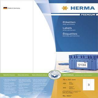 Herma 4657 Premium Universal-Etiketten 7x4.2 cm (100 Blatt (300 Etiketten))