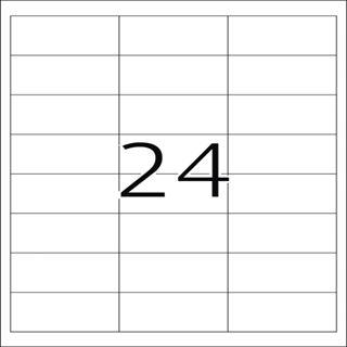 Herma 4814 Inkjet-Etiketten 6.6x3.38 cm (100 Blatt (2400 Etiketten))
