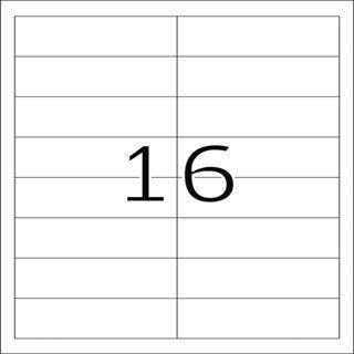 Herma 4815 Inkjet-Etiketten 9.7x3.38 cm (100 Blatt (1600 Etiketten))