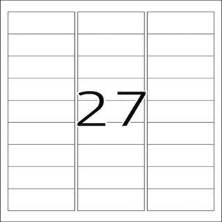 Herma 4864 wetterfest Folie Inkjet-Etiketten 6.35x2.96 cm (10 Blatt (270 Etiketten))
