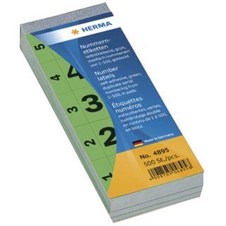 Herma 4895 selbstklebend gruen Nummernblock-Etiketten 2.8x5.6 cm (500