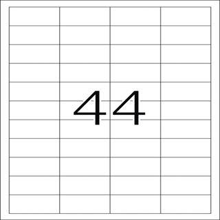 Herma 5051 Premium Universal-Etiketten 4.83x2.54 cm (25 Blatt (1100