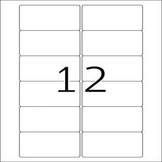 Herma 5070 Video-Etiketten 7.87x4.66 cm (25 Blatt (300 Etiketten))