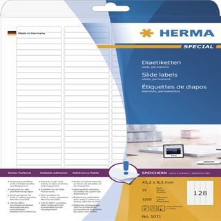 Herma 5071 Dia-Etiketten 4.3x8.5 cm (3200 Stück)