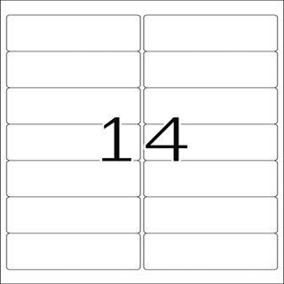 Herma 5076 Premium Adressetiketten 9.91x3.81 cm (25 Blatt (350