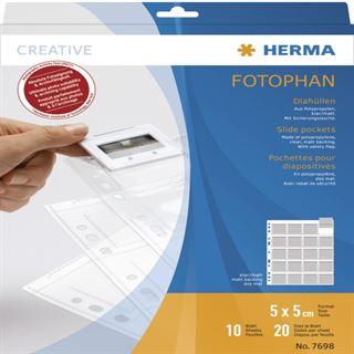 Herma Diahüllen für Kleinbild-Dias 10 Hüllen klar/matt