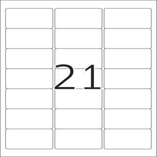 Herma 8017 glasklar Folie Universal-Etiketten 6.35x3.81 cm (25 Blatt (600 Etiketten))