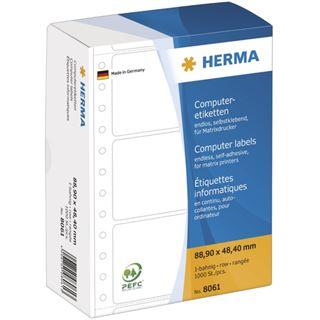 Herma 8061 weiß Computeretiketten 8.89x4.84 cm (1000 Stück)