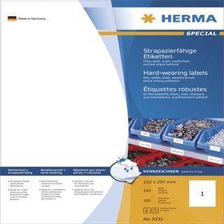 Herma 8335 extrem stark haftend Universal-Etiketten 21.0x29.7 cm (100 Blatt (100 Etiketten))
