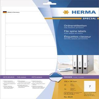 Herma 8620 blickdicht Ordneretiketten 19.2x3.8 cm (10 Blatt (70 Etiketten))