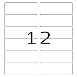 Herma 8805 Inkjet-Etiketten 8.89x4.66 cm (100 Blatt (1200 Etiketten))