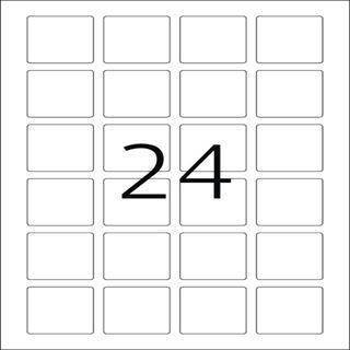 Herma 9642 quadratisch blickdicht QR-Code 4x4 cm (25 Blatt (600