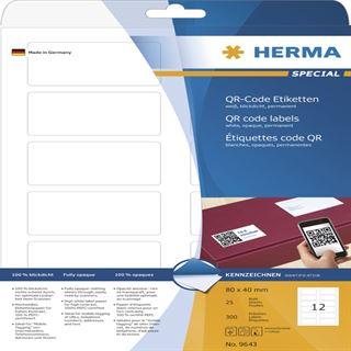 Herma 9643 blickdicht QR-Code 4x8 cm (25 Blatt (300 Etiketten))