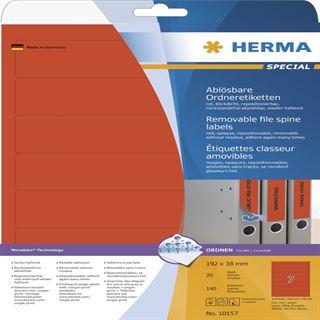 Herma 10157 ablösbar Ordneretiketten 19.8x3.8 cm (20 Blatt (140 Etiketten))