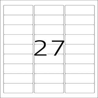 Herma 10300 ablösbar Universal-Etiketten 6.35x2.96 cm (100 Blatt (2700 Etiketten))