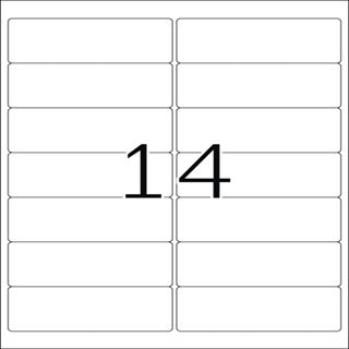 Herma 10310 Adressetiketten 9.91x3.81 cm (100 Blatt (1400 Etiketten))