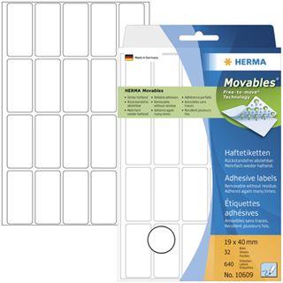 Herma 10609 ablösbar Vielzwecketiketten 1.9x4 cm (32 Blatt (640 Etiketten))