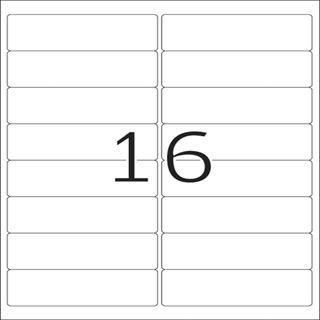 Herma 10825 Adressetiketten 9.91x3.38 cm (100 Blatt (1600 Etiketten))