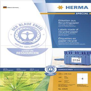 Herma 10829 Universal-Etiketten 10.5x14.8 cm (100 Blatt (400