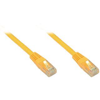 1.00m Good Connections Cat. 6 Patchkabel U/UTP RJ45 Stecker auf RJ45 Stecker Gelb halogenfrei