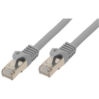 (€1,19*/1m) 7.50m Good Connections Cat. 7 Rohkabel Patchkabel S/FTP PiMF RJ45 Stecker auf RJ45 Stecker Grau halogenfre
